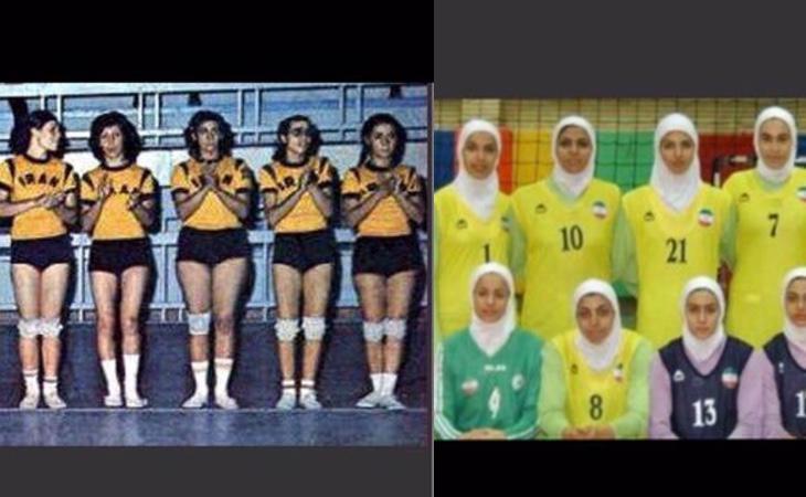 Selección femenina de volleyball en 1974 y 2016