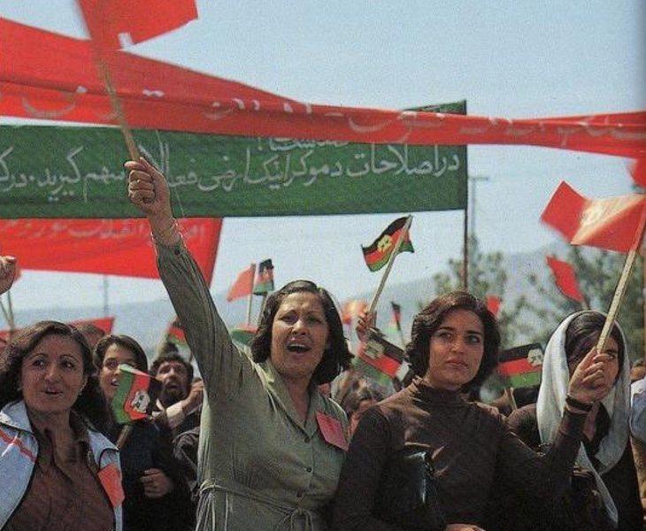 Manifestación de mujeres en Kabul