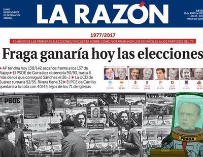 El diario La Razón afirma que hoy Fraga ganaría las elecciones y las redes arden