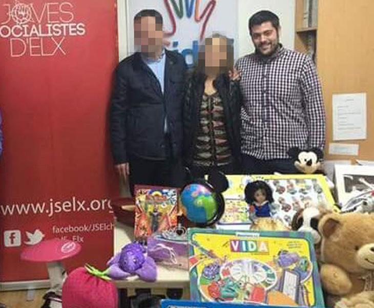 Alejandro Díaz en una recogida de juguetes para los niños más desfavorecidos