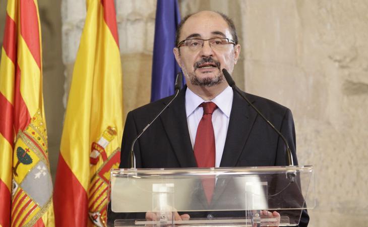 El presidente aragonés, Javier Lambán, mantiene muy mala relación con el sanchismo
