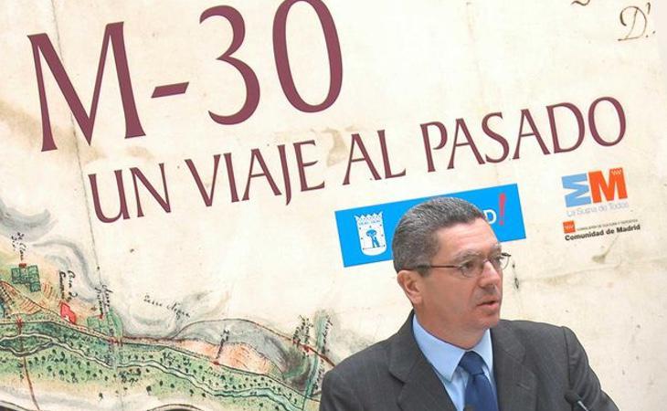 El exalcalde de Madrid, Alberto Ruiz Gallardón, en un acto oficial