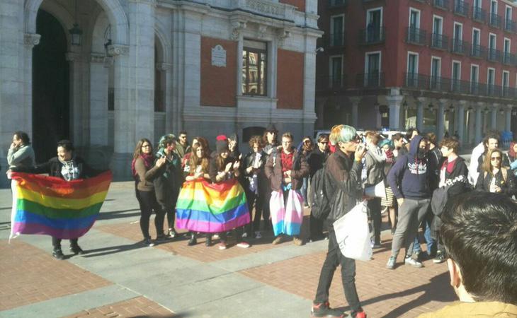 Manifestación en Valladolid a favor de los derechos de los homosexuales