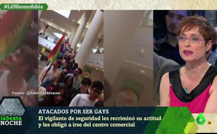 Anna Grau utilizó en televisión la palabra 'maricones' para atacar a los homófobos