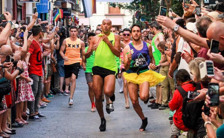 Carrera de tacones, uno de los grandes acontecimientos del World Pride