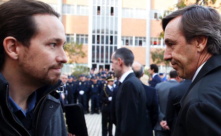 Rafa Hernando y Pablo Iglesias, en una fotografía de archivo