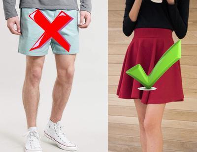 Hombres con pantalones largos y mujeres con falda corta en el trabajo ¿Hay discriminación?