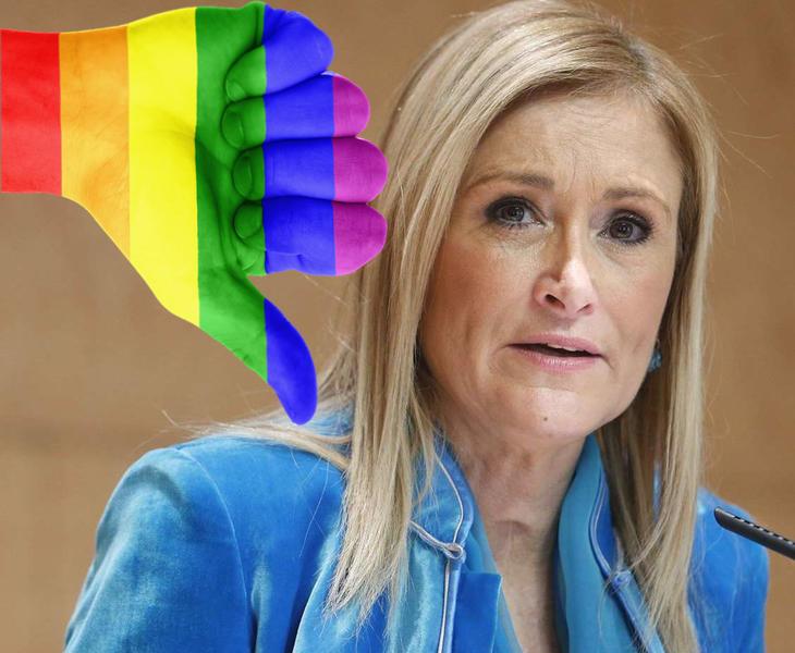 """Cristina Cifuentes no irá al World Pride pero aclara que tiene """"amigos transexuales"""""""