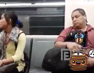 Se masturba en pleno vagón de metro ante la atónita mirada de los viajeros