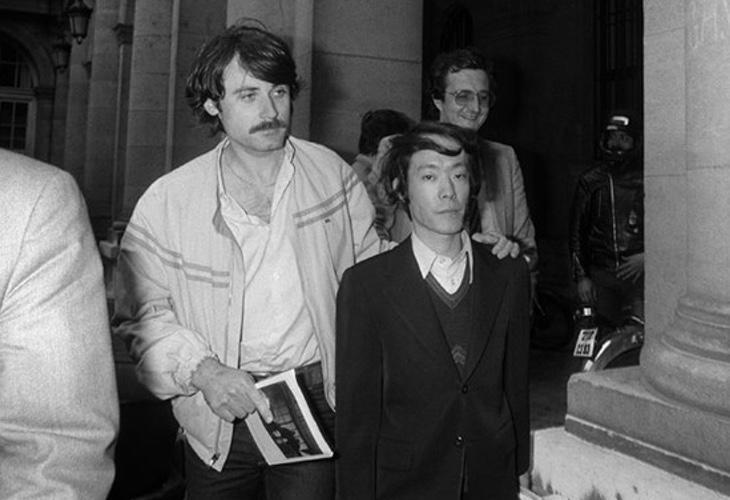Issei Sagawa durante su arresto por parte de las autoridades
