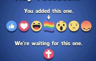 La reacción de la cruz no llegará a Facebook pese a las peticiones de los cristianos