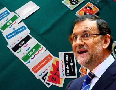 Lanzan un juego de cartas con las frases más legendarias de Rajoy