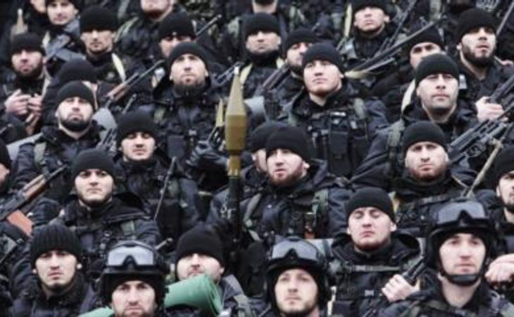Varios militares chechenos, en una fotografía de archivo