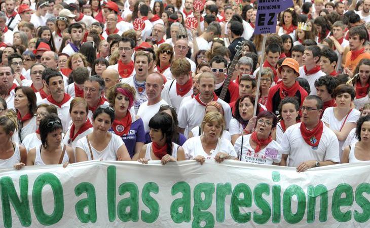 Imagen de una manifestación contra los abusos sexuales en Pamplona