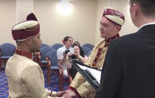 Dos hombres protagonizan una de las primeras bodas gays musulmanas del mundo