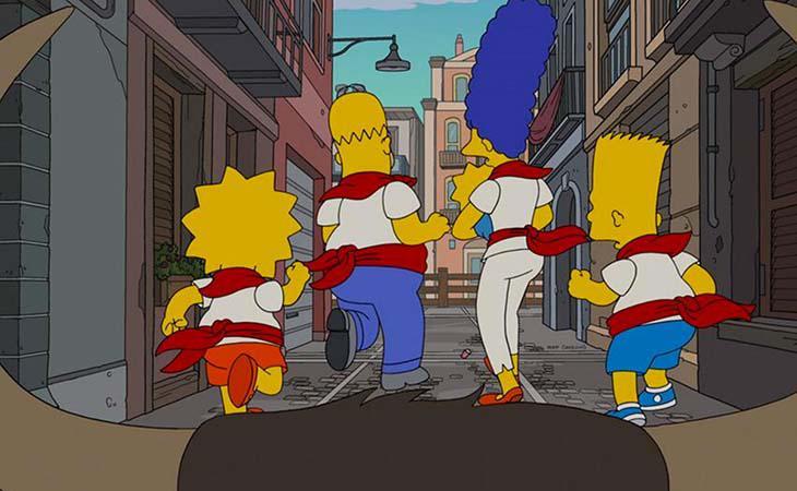 Los Simpson en los Sanfermines
