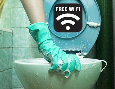 22.000 personas aceptan limpiar baños públicos a cambio de Wi-Fi