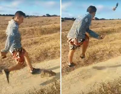Patea brutalmente a un conejo para 'divertirse en las redes'