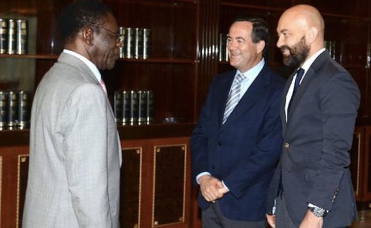Fotografía de la reunión difundida por las autoridades ecuatoguineanas