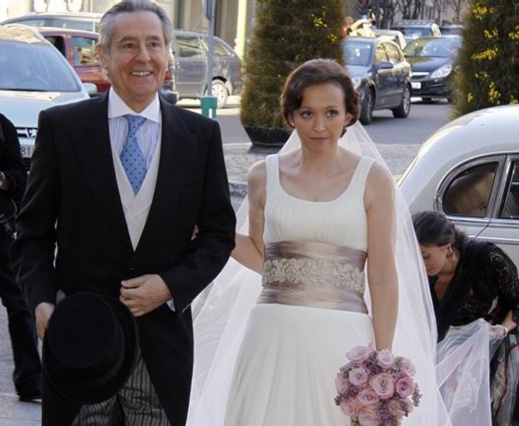 Miguel Blesa junto a su hija, María Jesús