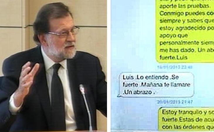 Rajoy pasa de contestar al significado del mensaje a Bárcenas: 'Luis, lo entiendo, sé fuerte'