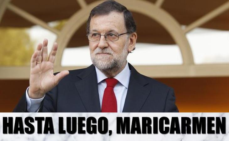Acaba la declaración de Rajoy y abandona la sala