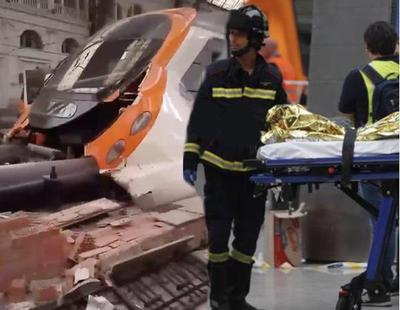 56 heridos en un accidente de tren en Barcelona