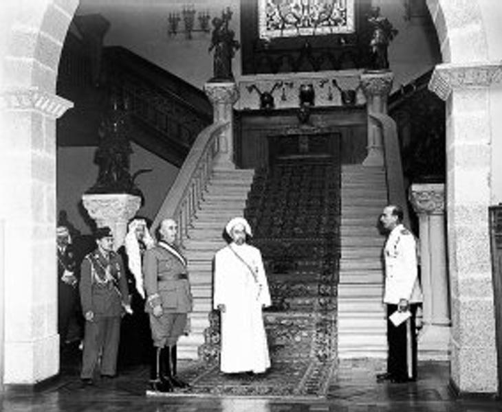 Francisco Franco en el interior del Pazo de Meirás