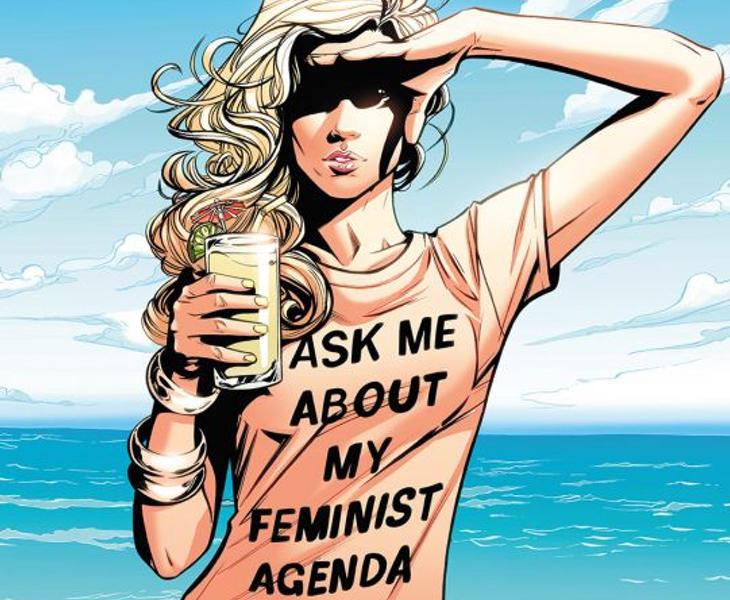 Polémica por una camiseta donde podía leerse 'Ask me about my feminist agenda'