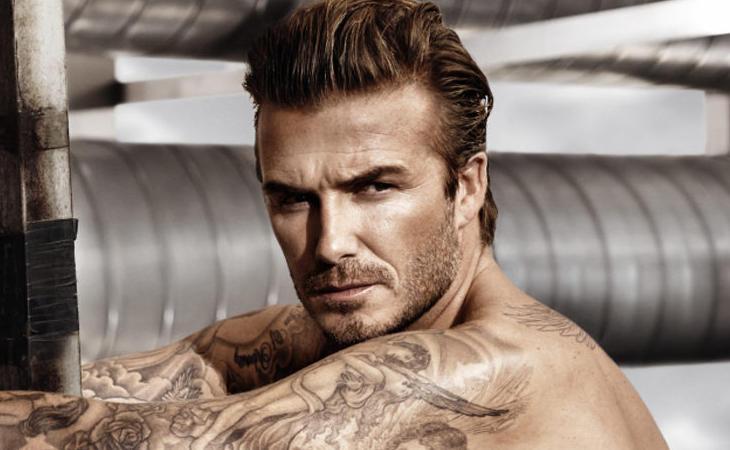 La forma del rostro de David Beckham es casi perfecta