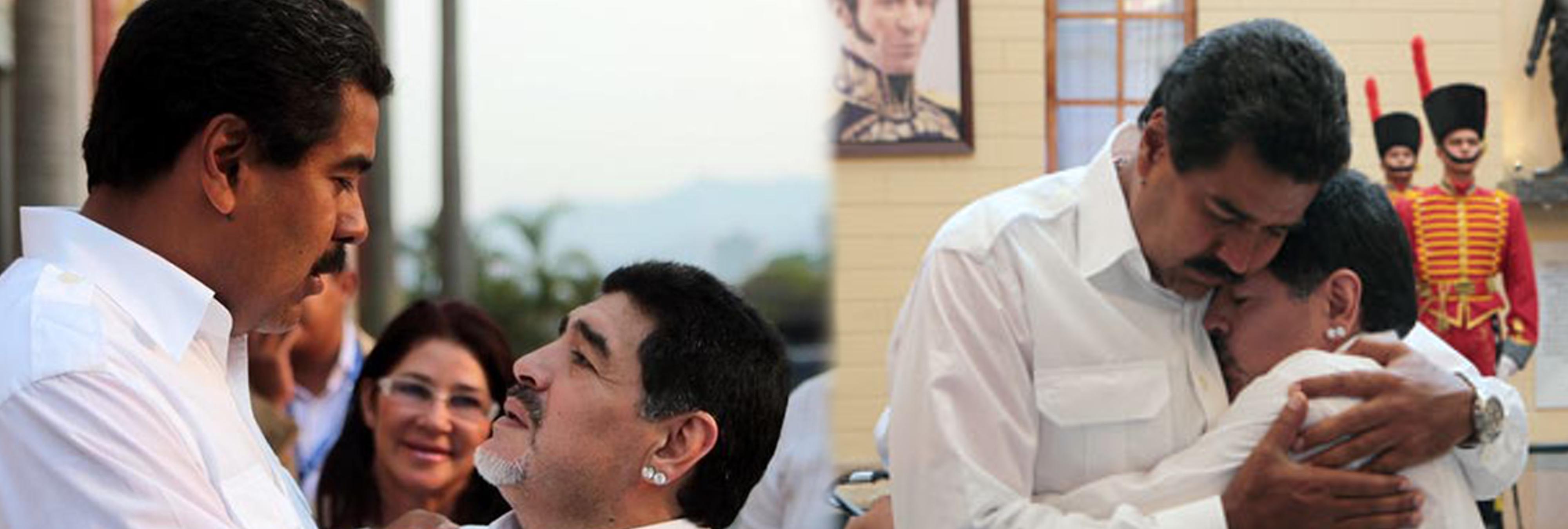 """Maradona se ofrece como soldado a Maduro para luchar """"contra el imperialismo"""""""