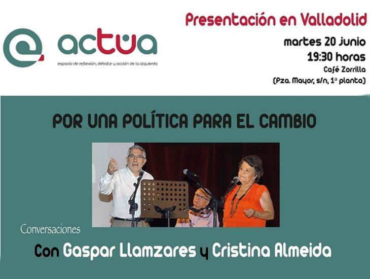 Cartel de presentación de la plataforma Actúa en Valladolid