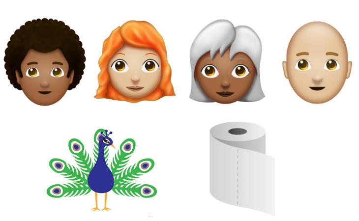 Algunos de los nuevos emojis que llegarán a WhatsApp