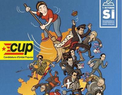 La CUP reivindica la república catalana con un cartel de inspiración leninista
