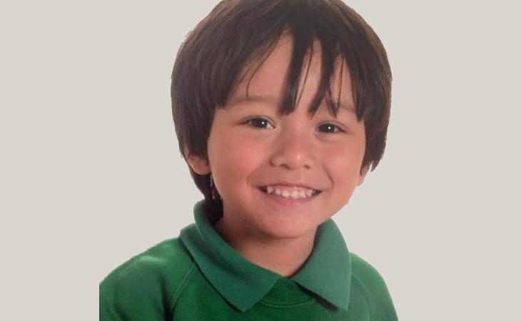 Fotografía del niño desaparecido durante el atentado