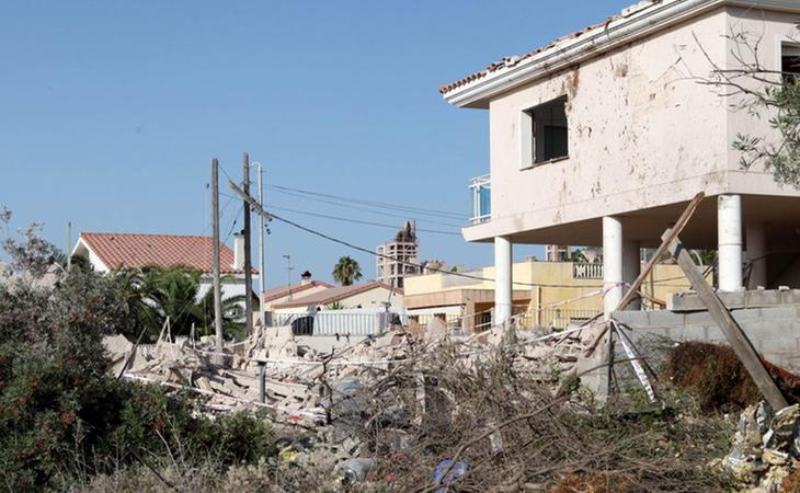 Así quedó la casa de Alcanar tras la explosión