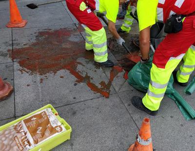 Los neonazis de Hogar Social revientan el minuto de silencio por las víctimas de Barcelona