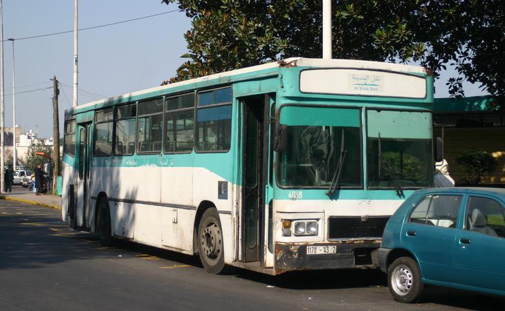 Los hechos ocurrieron en uno de los autobuses urbanos de Casablanca