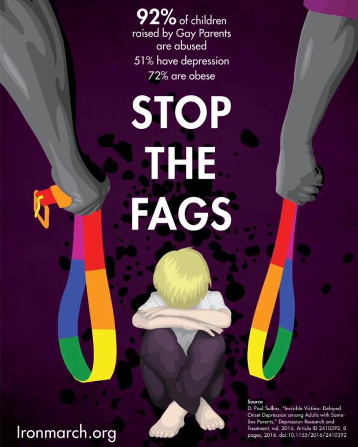 El homófobo cartel de la polémica