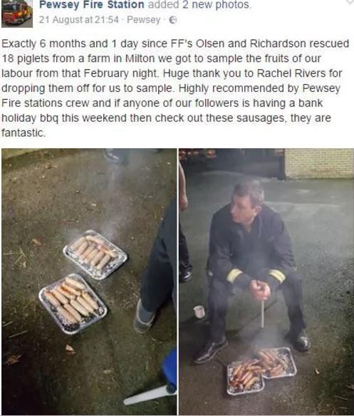 La publicación de los bomberos de Pewsey