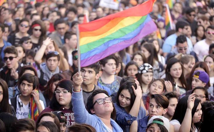 Manifestación del Orgullo Gay en Santiago de Chile