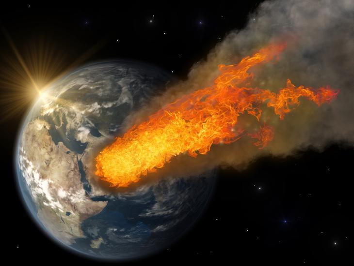 Recreación del asteroide a su paso por La Tierra