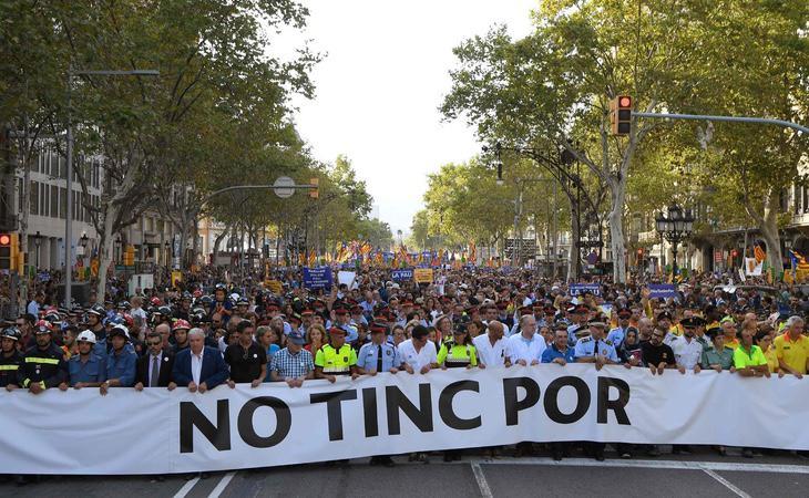 Imagen de la manifestación de repulsa al atentado