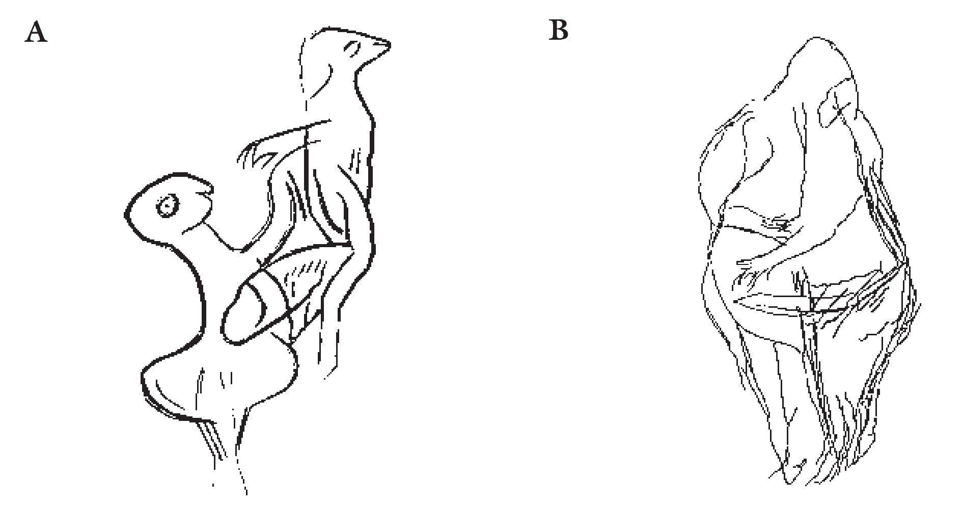 Reproducción de algunas escenas sexuales paleolíticas