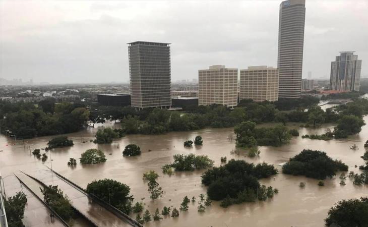 Houston, Texas, tras sufrir las consecuencias del Harvey