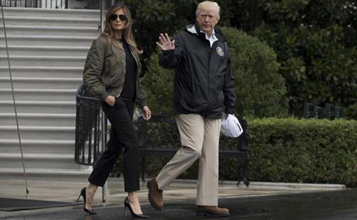 Donald Trump y Melania visitan las zonas afectadas
