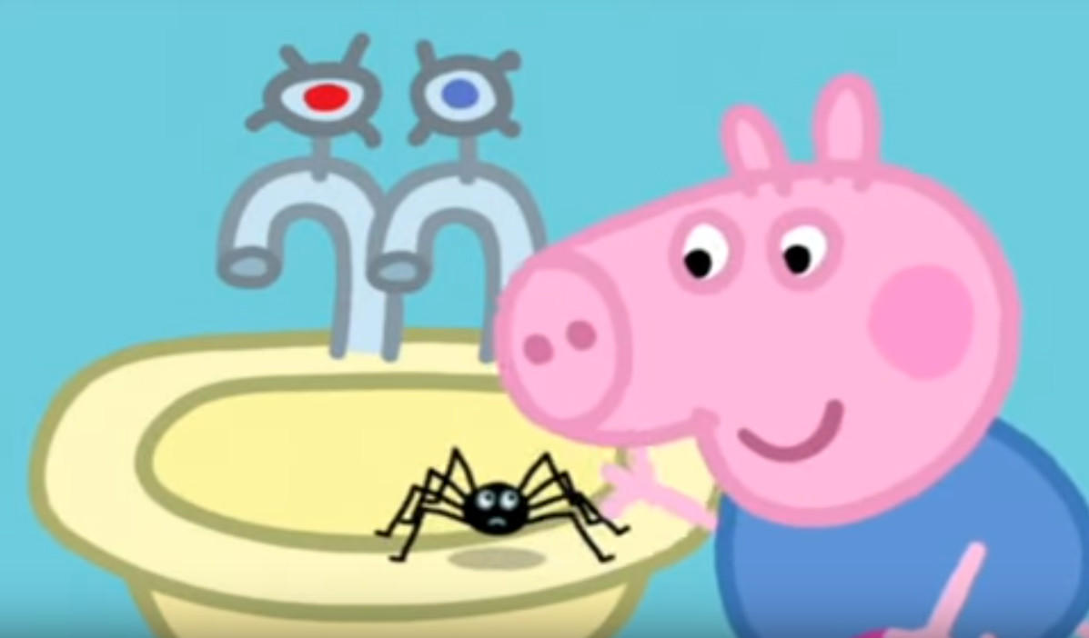 La araña de Peppa no parece muy amistosa
