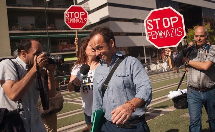 Francesco Arcuri, a su entrada en los juzgados