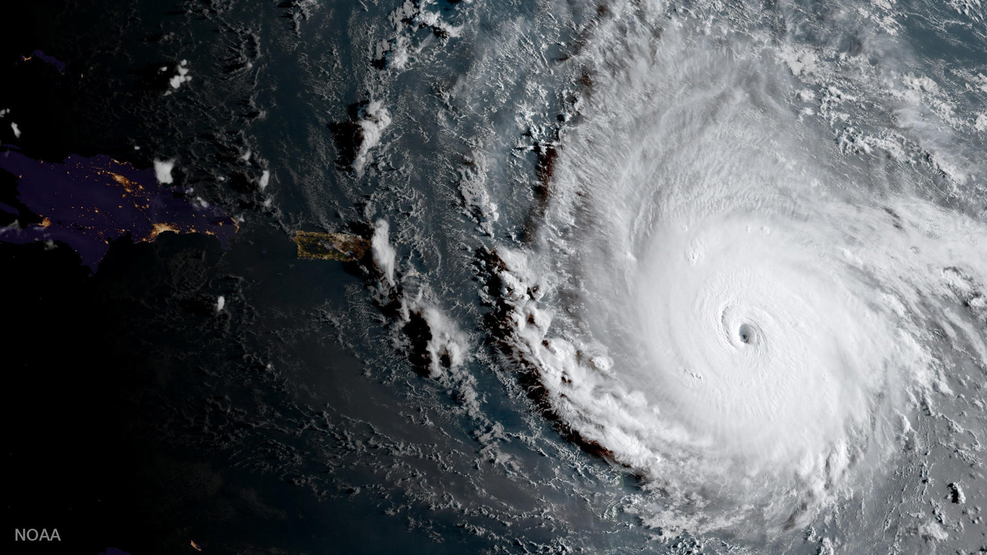 El huracán Irma tiene el tamaño de Francia