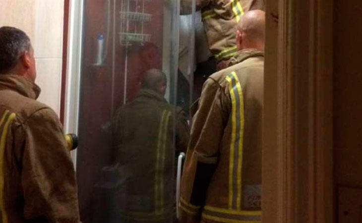 El departamento de bomberos en acción. Fuente: Liam Smyth / GoFundme